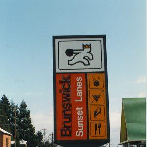 Sunset Lanes Road Sign